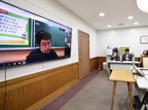인천시 교육청, 온라인 원격교육 위해 화상으로 대책 논의